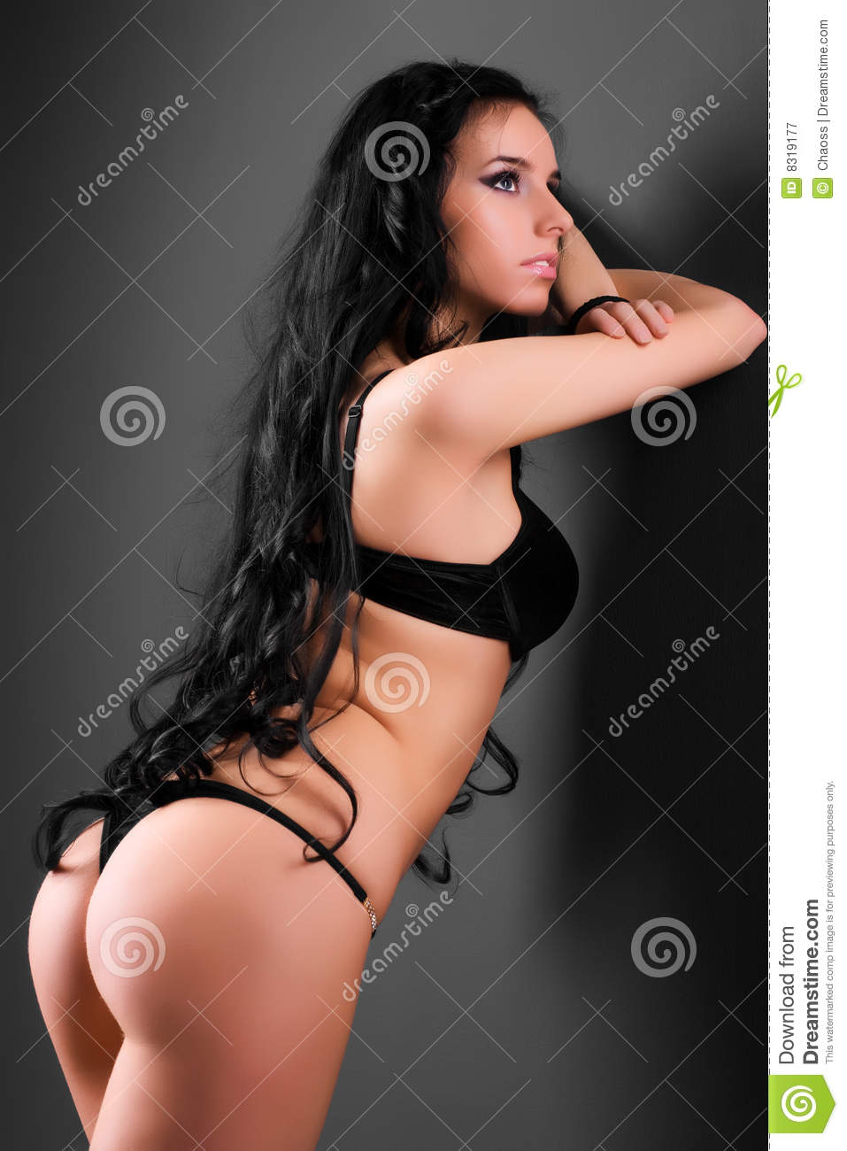 Background sexy wall woman young