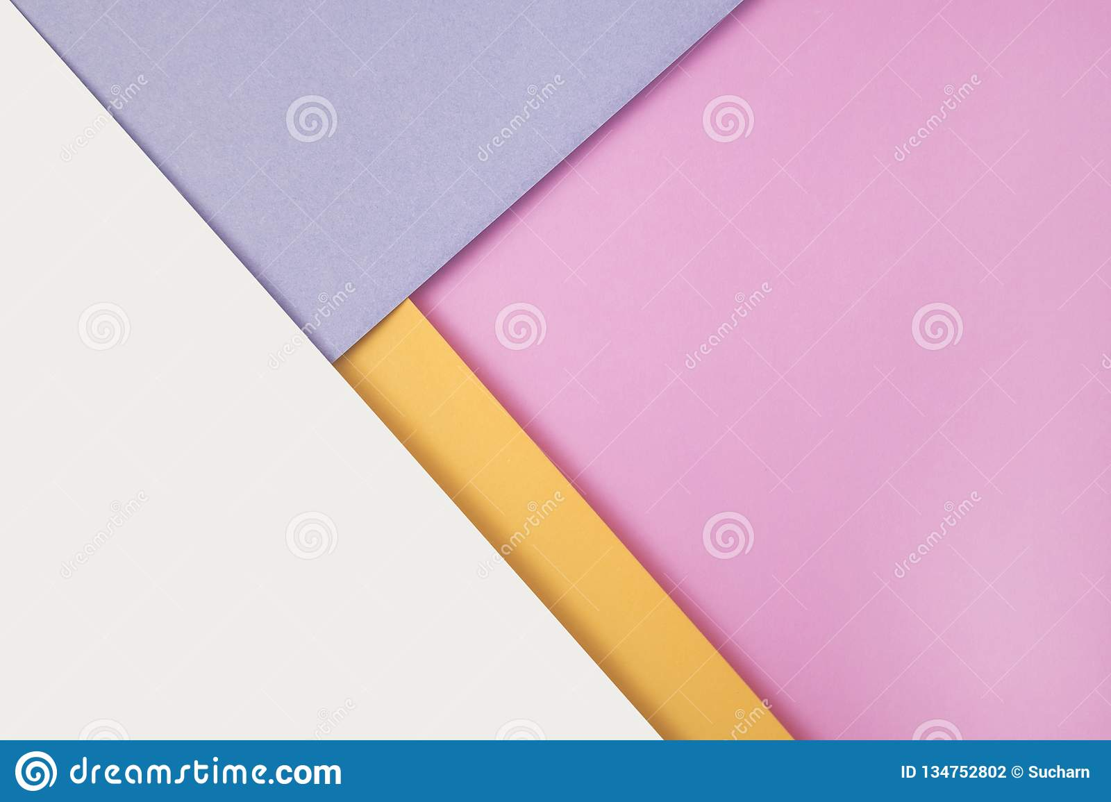 Background of shape and geometry. Colored background decorations with paper