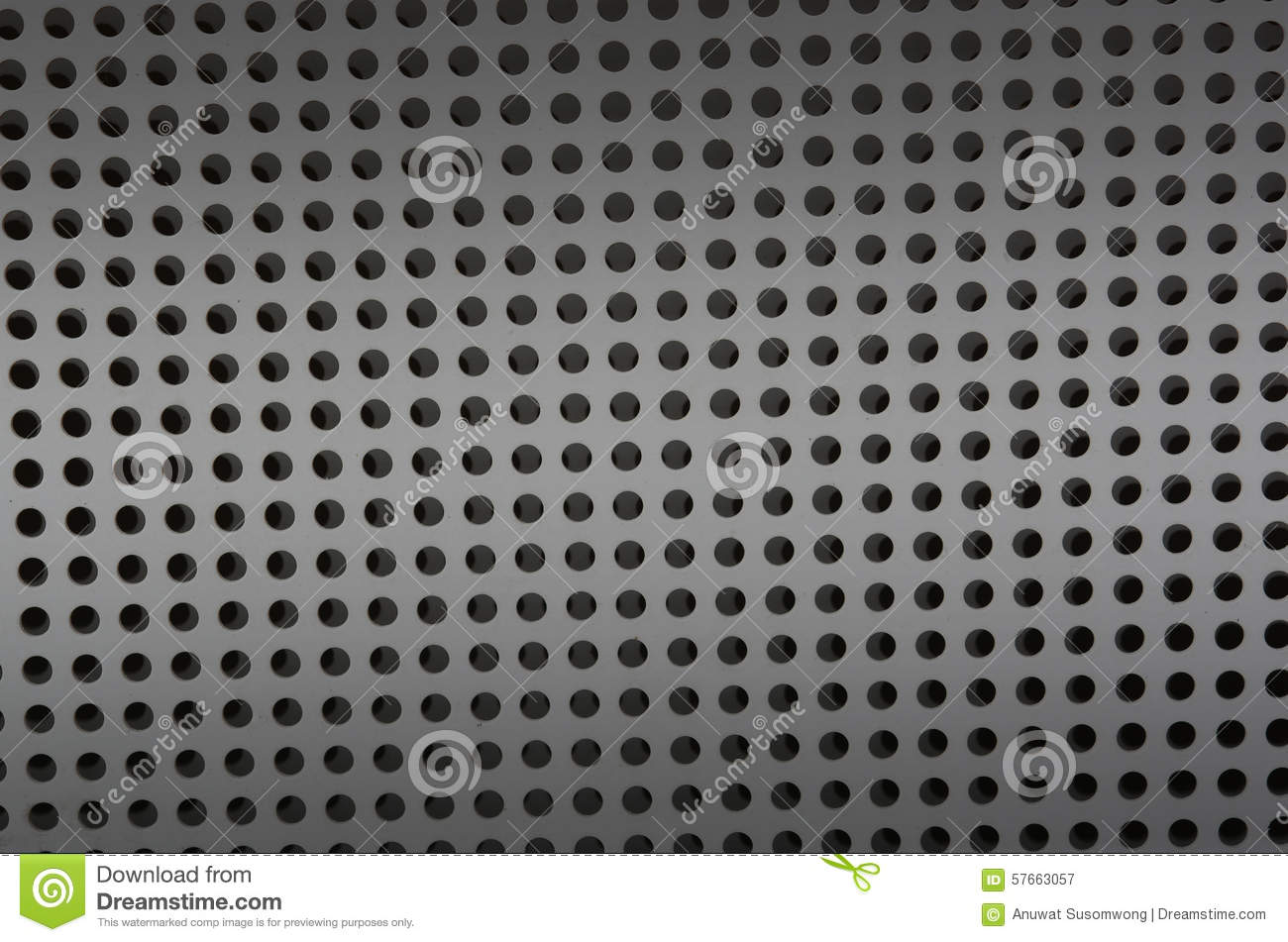 Background Sheet Of Metal Covered With Lines Of Circular
