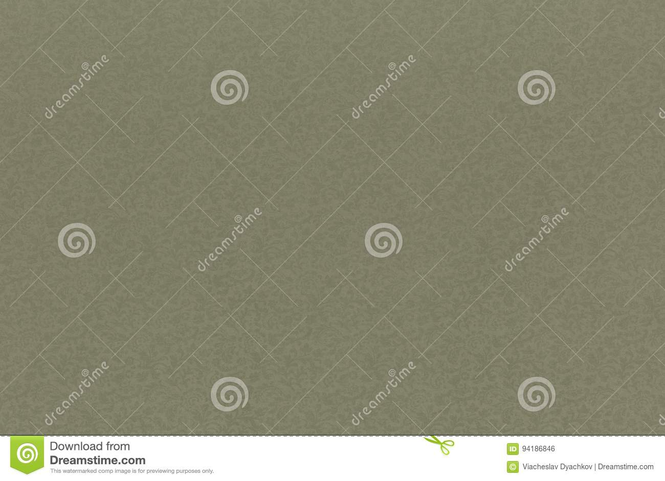 Background small floral plant ornament light green color. any of your text. old paper.