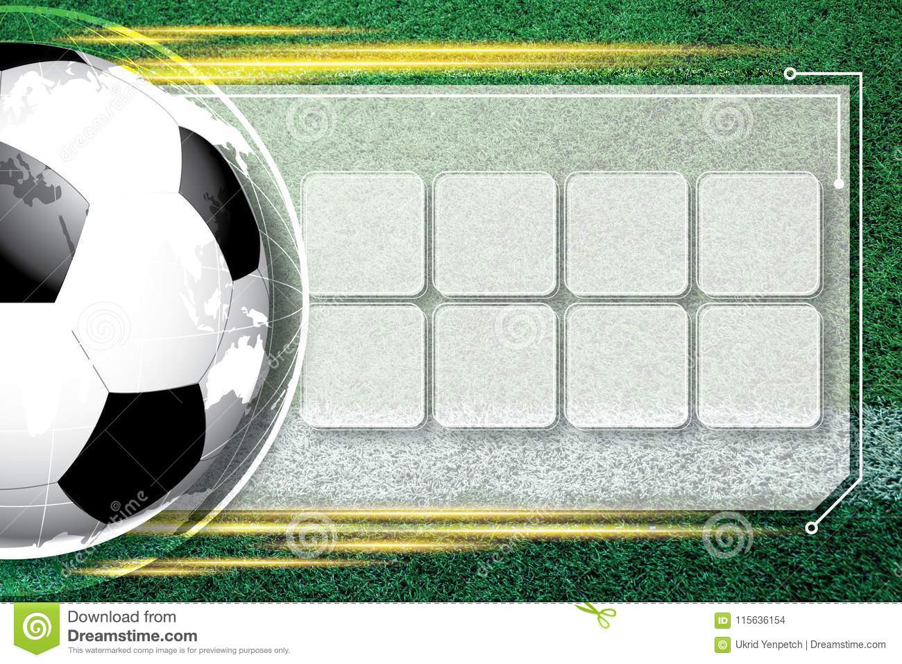 Background soccer football Competition schedule.