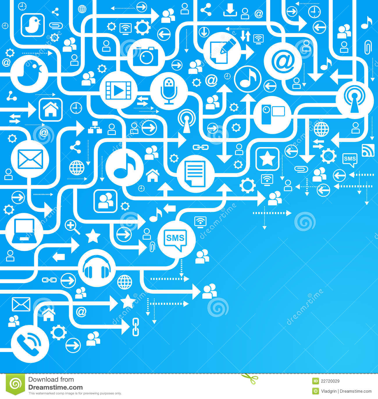 Background social network blue