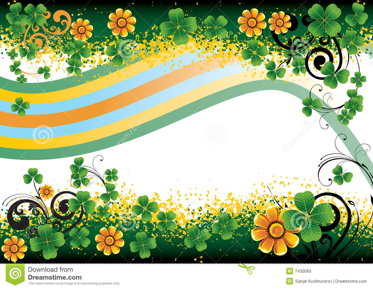 Background For St. Patrick's Day Stock Photos - Image: 7430093