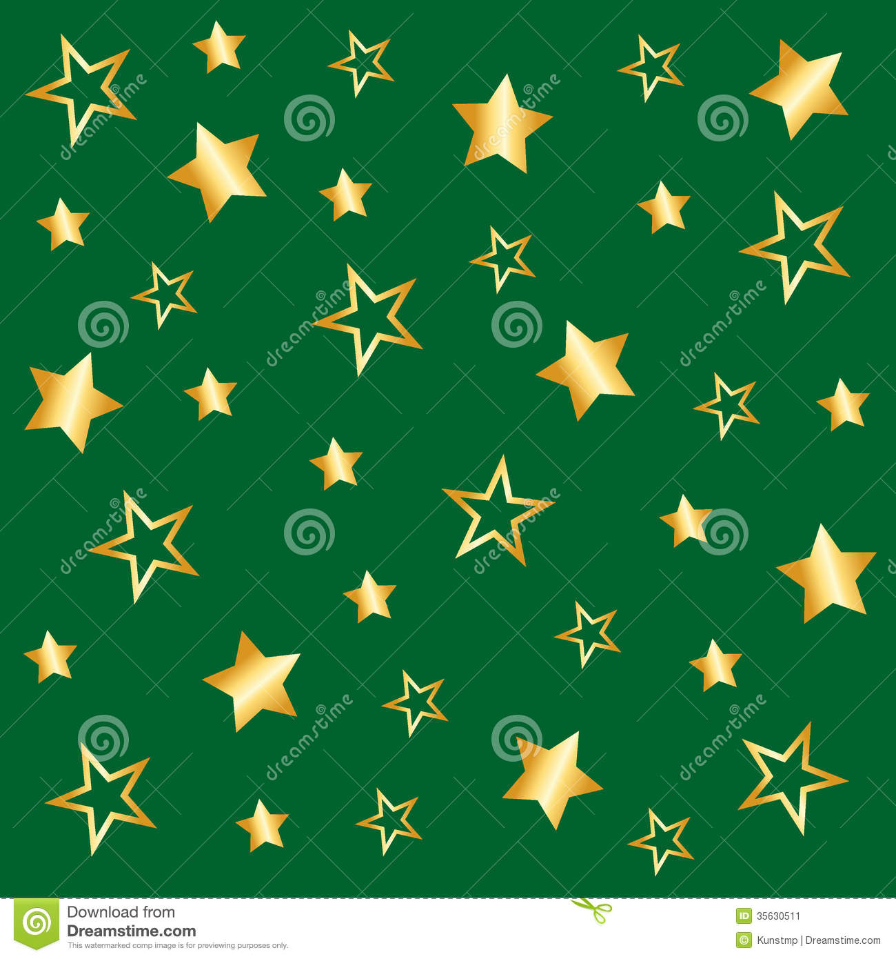 Background With Star Pattern In Green Stock Image - Image: 35630511