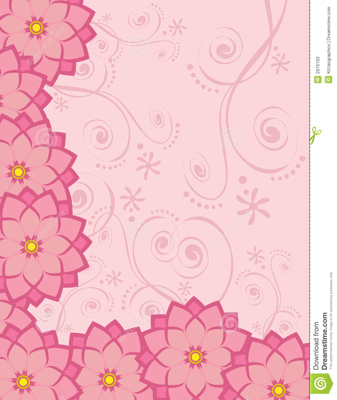 Background Stationary Flowers Stock Vector - Image: 2976193