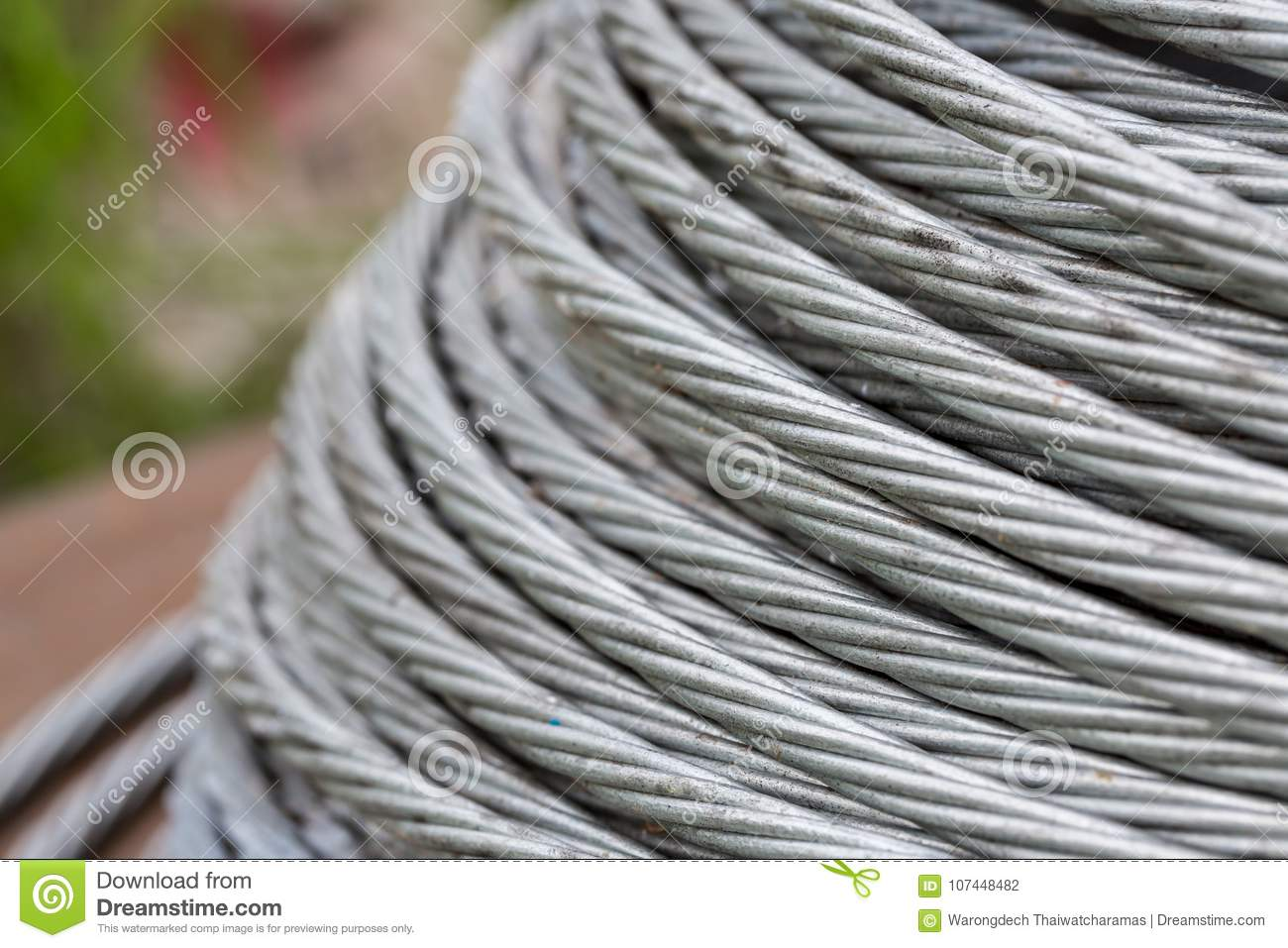 Background Of Steel Cable, Steel Wire Or Steel Rope In The Roll ...