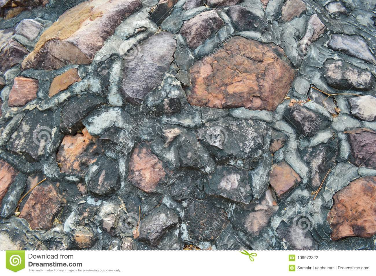 Clinkers Cement Can Be Dissolved : Cement clinker wall stock photo. image of species stone 109972322