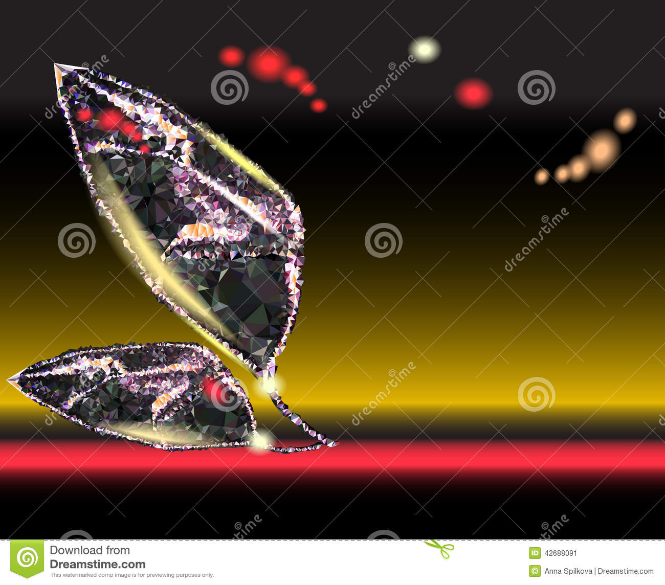 Background with stylized abstract leaves