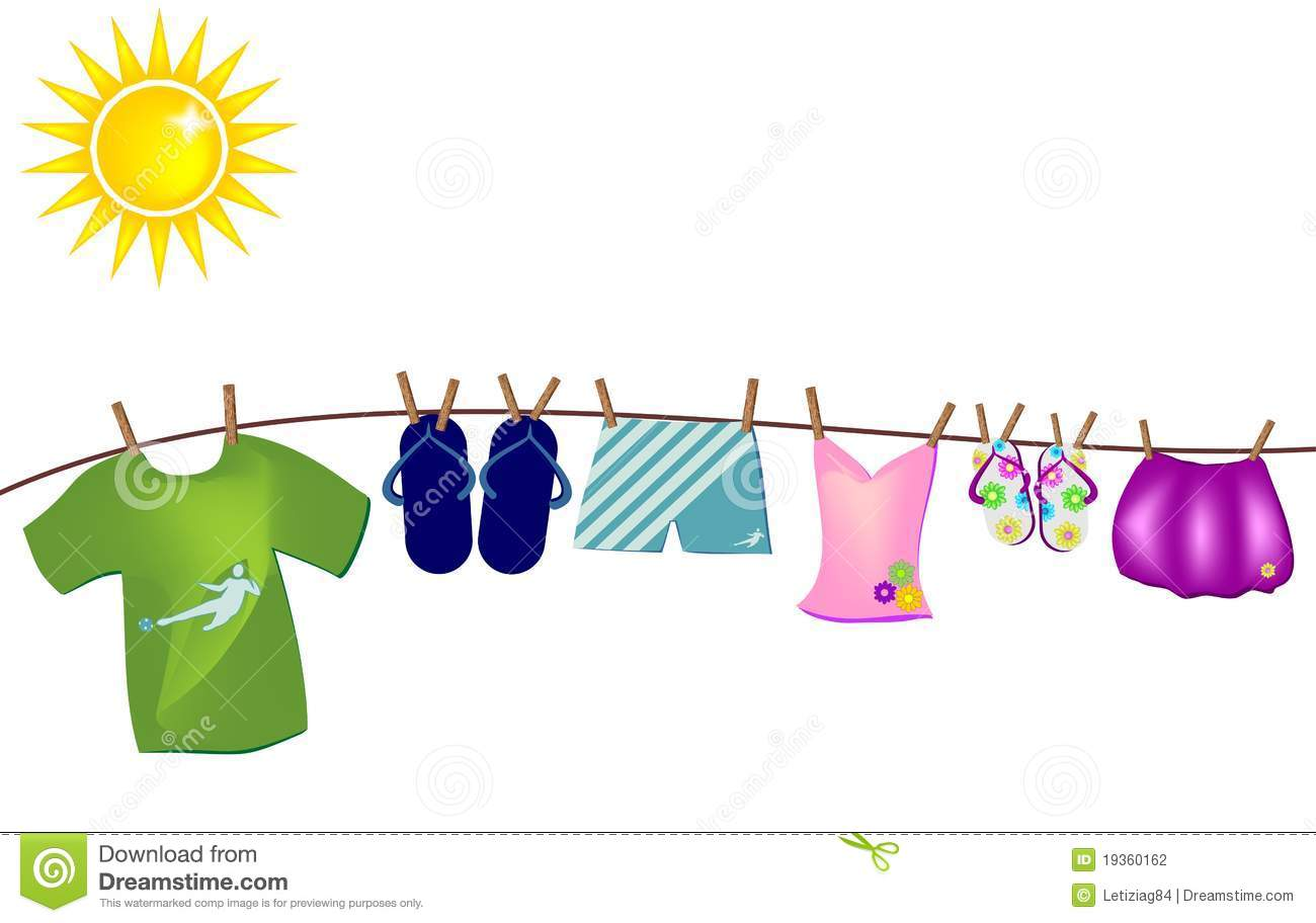 clipart hanging clothes - photo #39