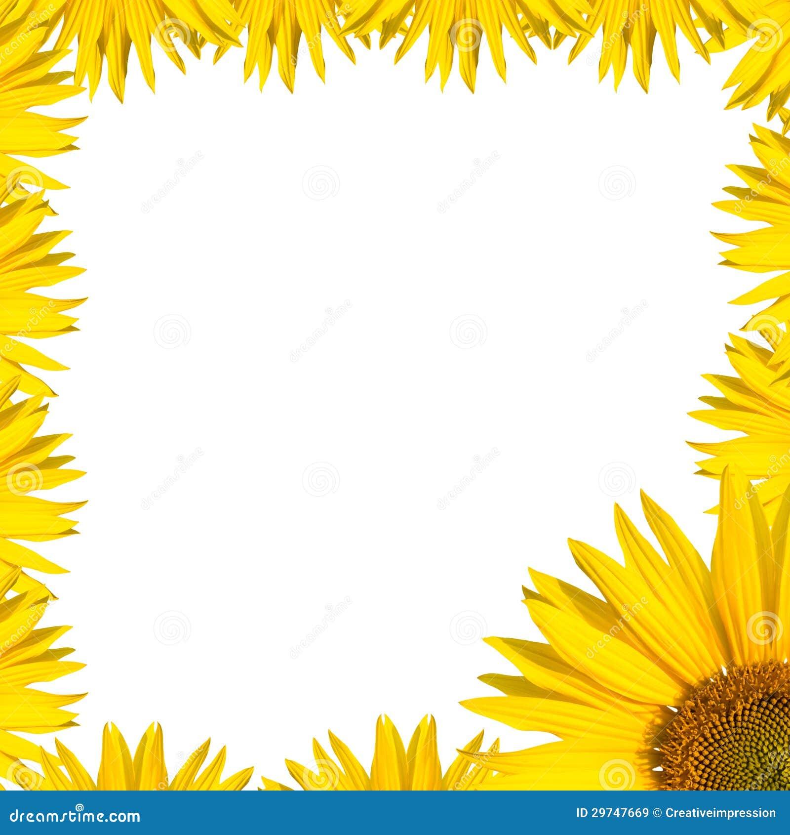 Sunflower Border Design Royalty Free Stock Images - Image ...