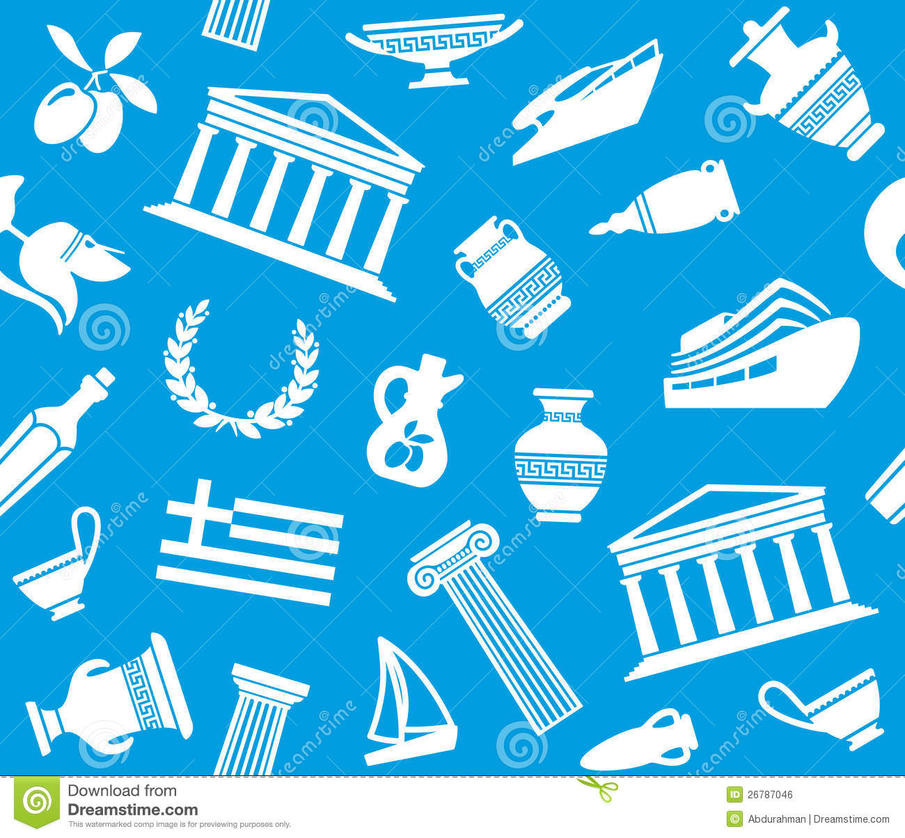 Background With Symbols Of Greece Royalty Free Stock Image - Image ...: www.dreamstime.com/royalty-free-stock-image-background-symbols...