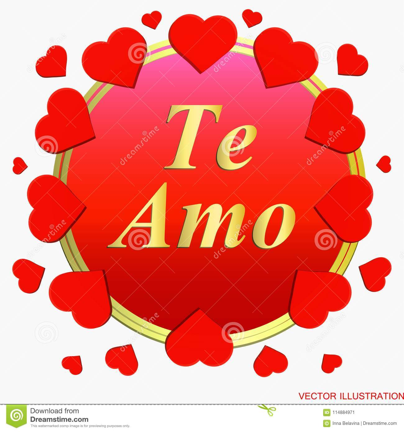 Background te amo i love you greeting card in spanish stock vector i love you greeting card in spanish stock vector m4hsunfo