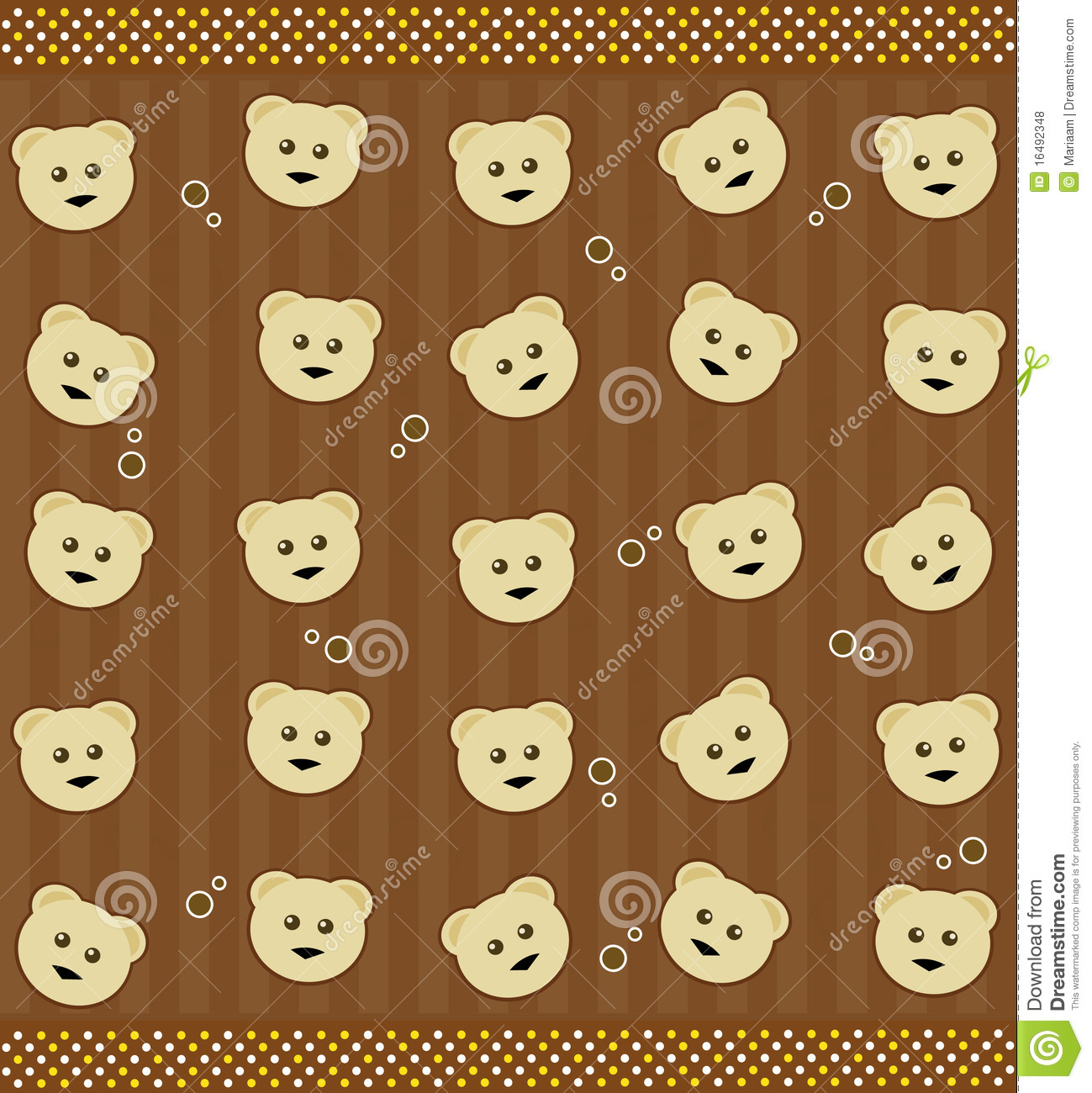 background with teddy bears stock illustration illustration of