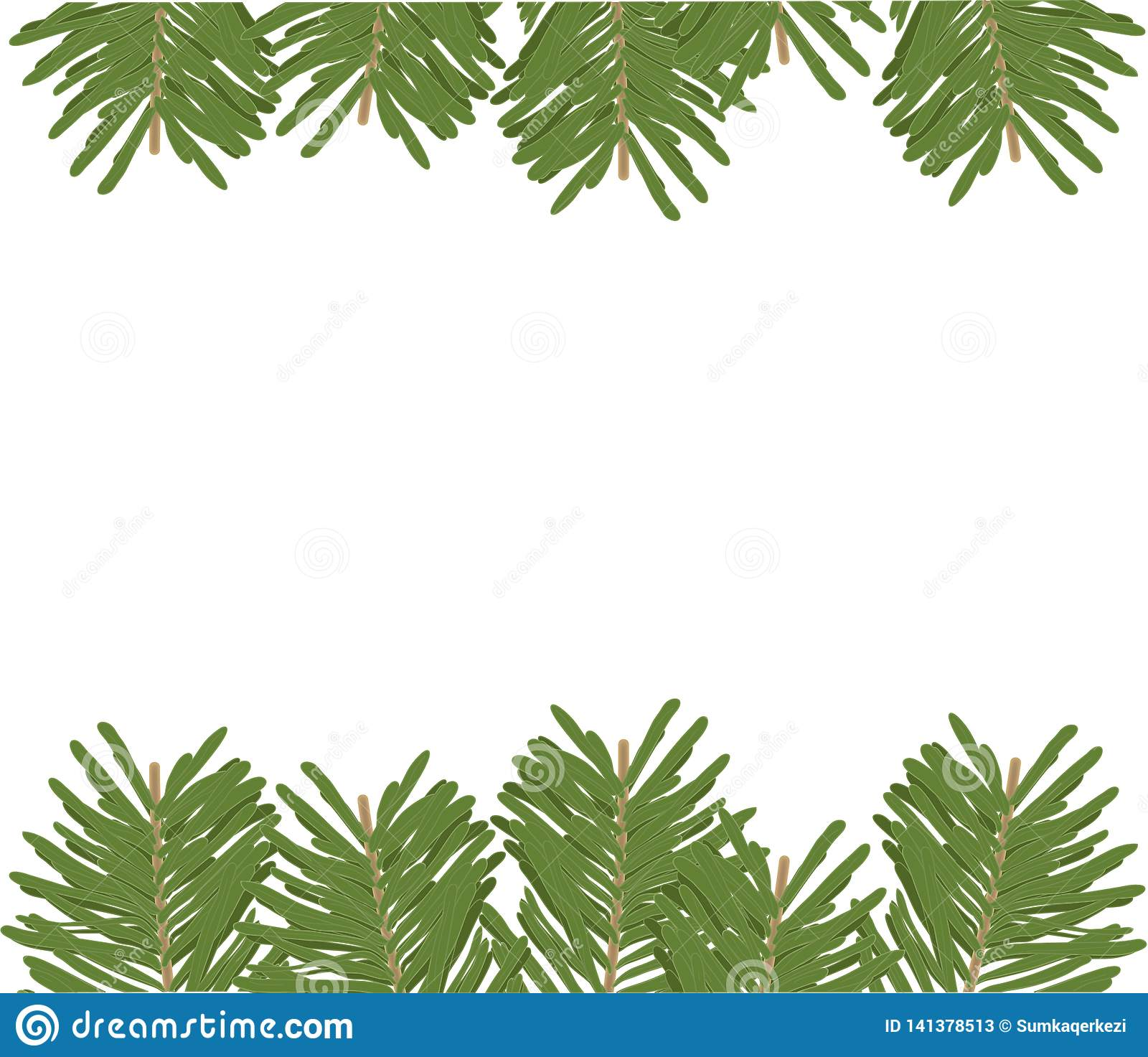 Background template in fir trees.