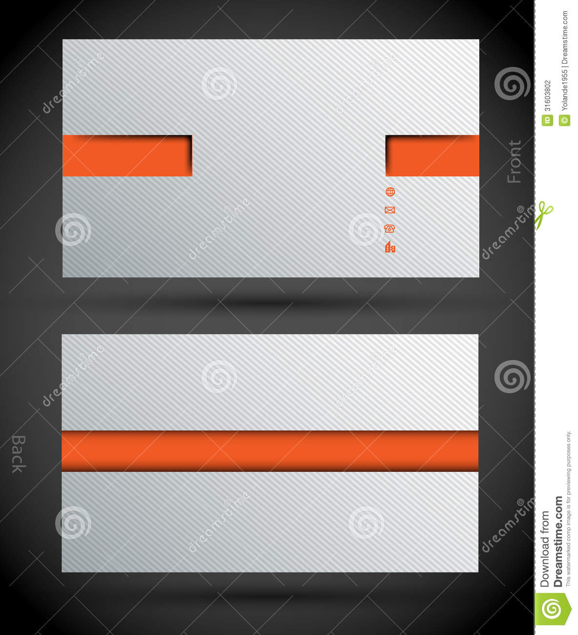 Background Or Template For Modern Business Card Stock