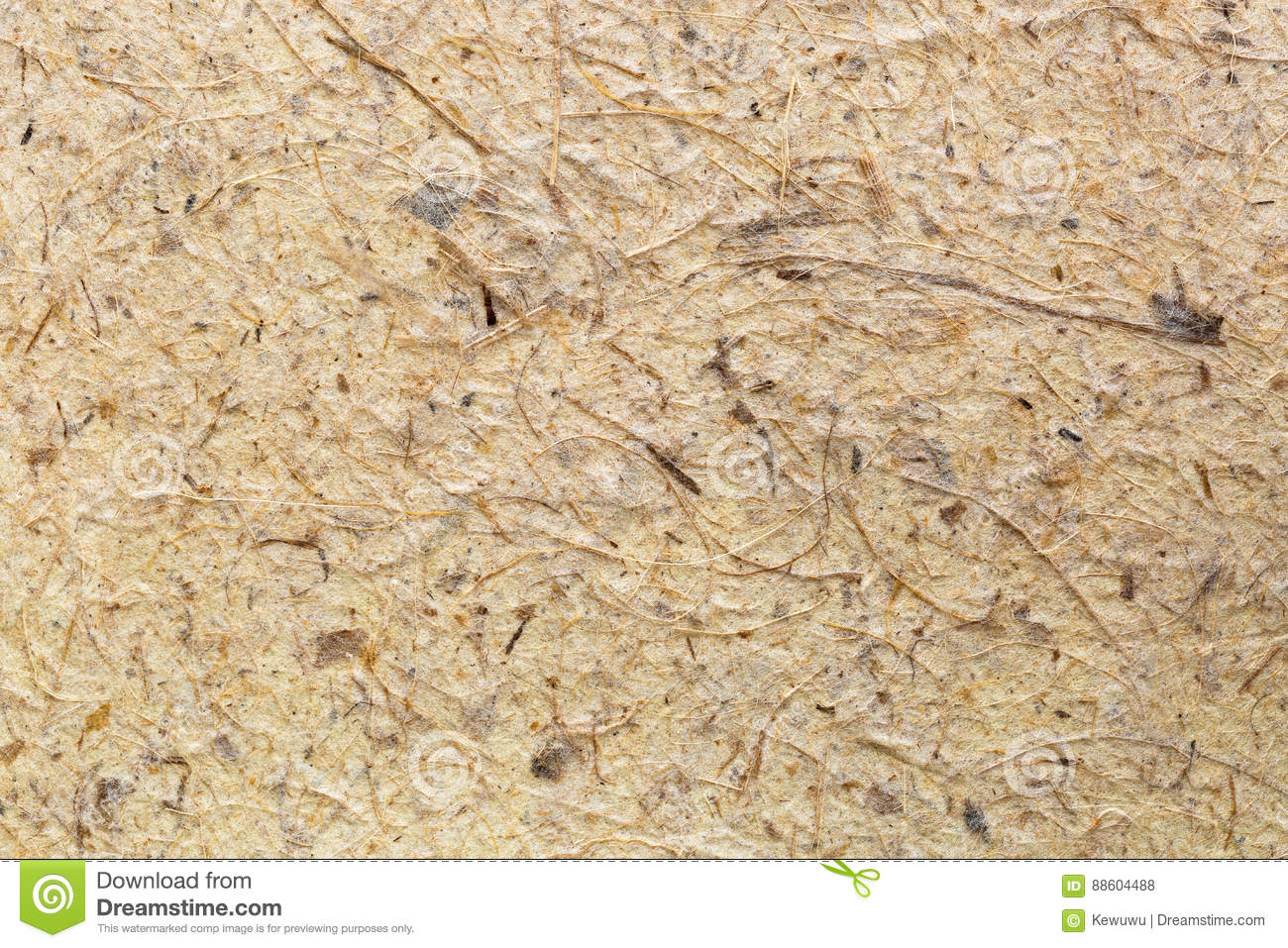 Background texture of handmade rice paper made of paper mulberry