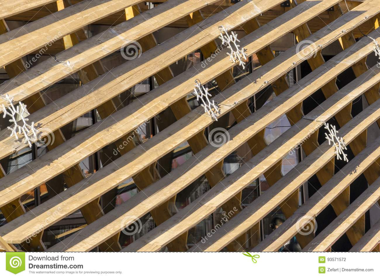 Background Texture Of Old Painted Wooden Blinds Stock Photo Image Of Lining Nail 93571572