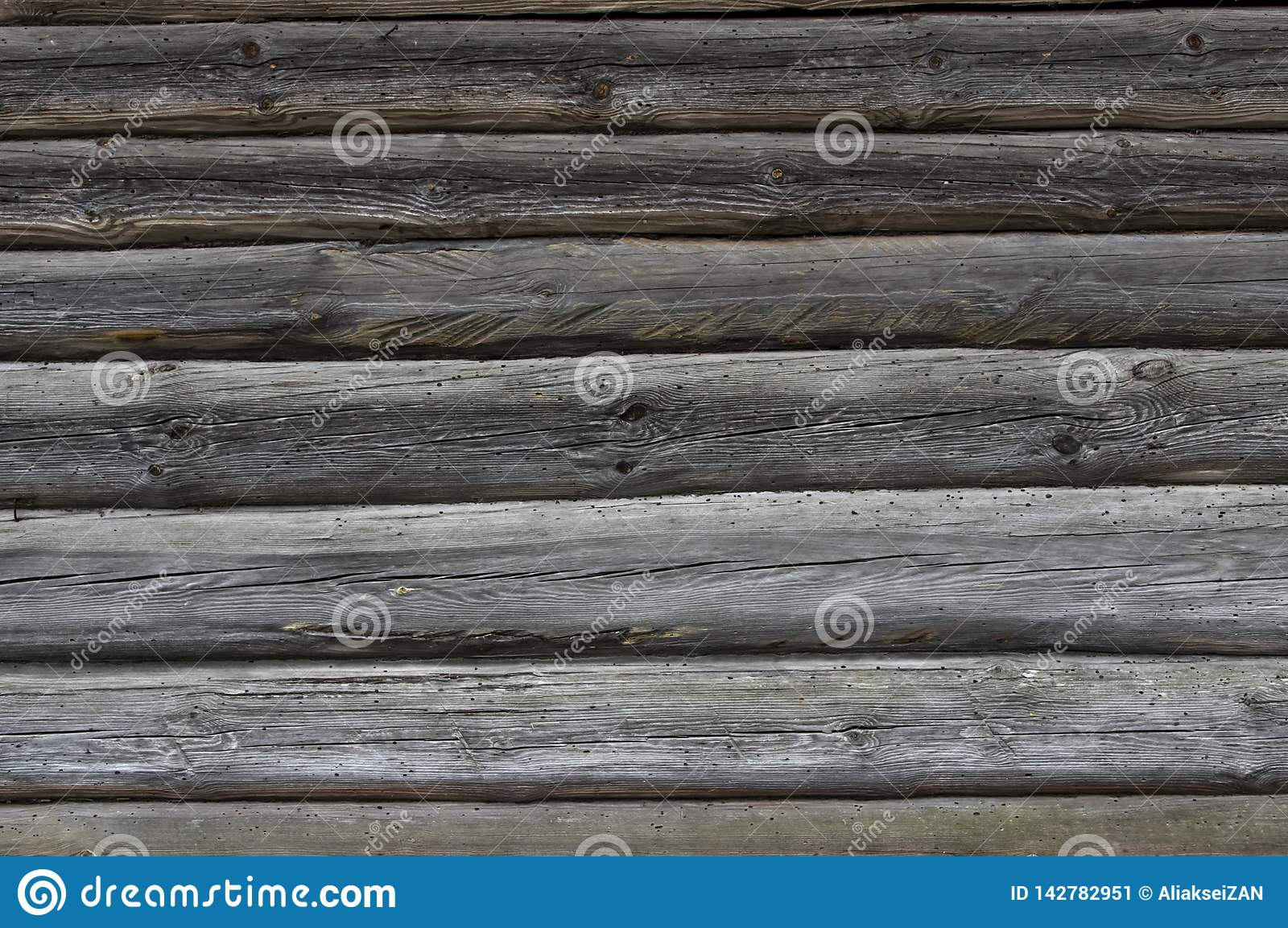 Background texture wall of a wooden house