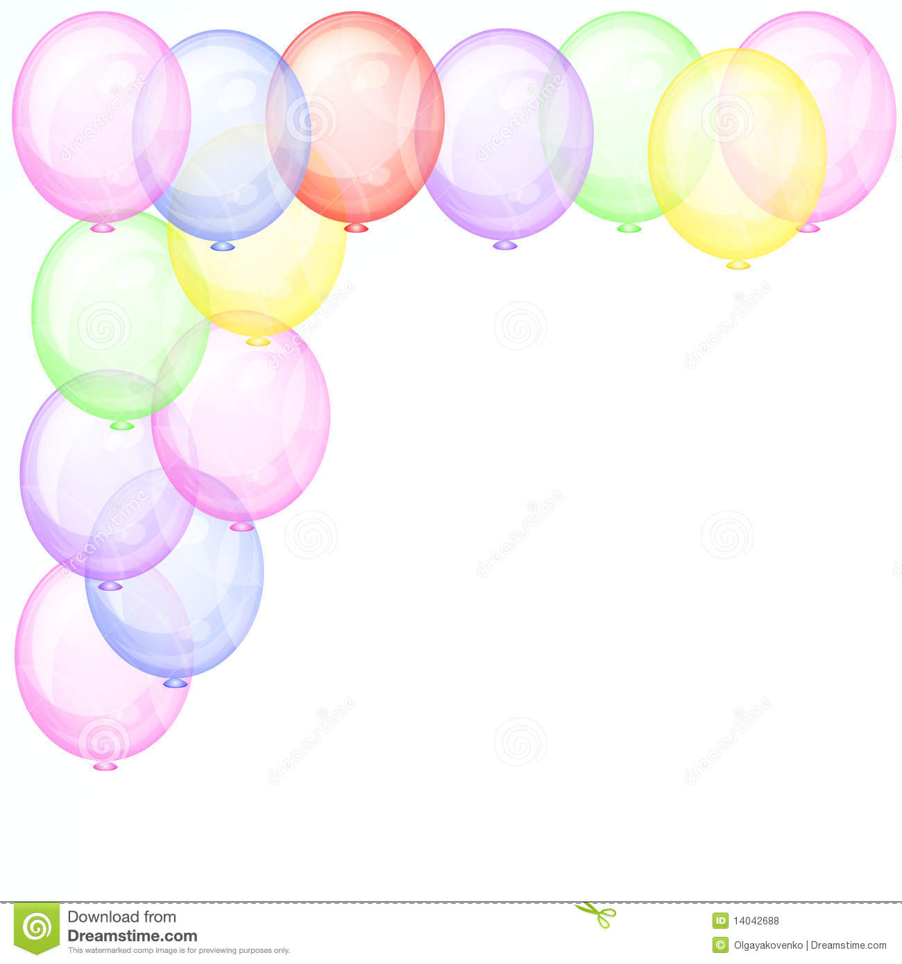 Background with transparent balloons - Illustration for your design.