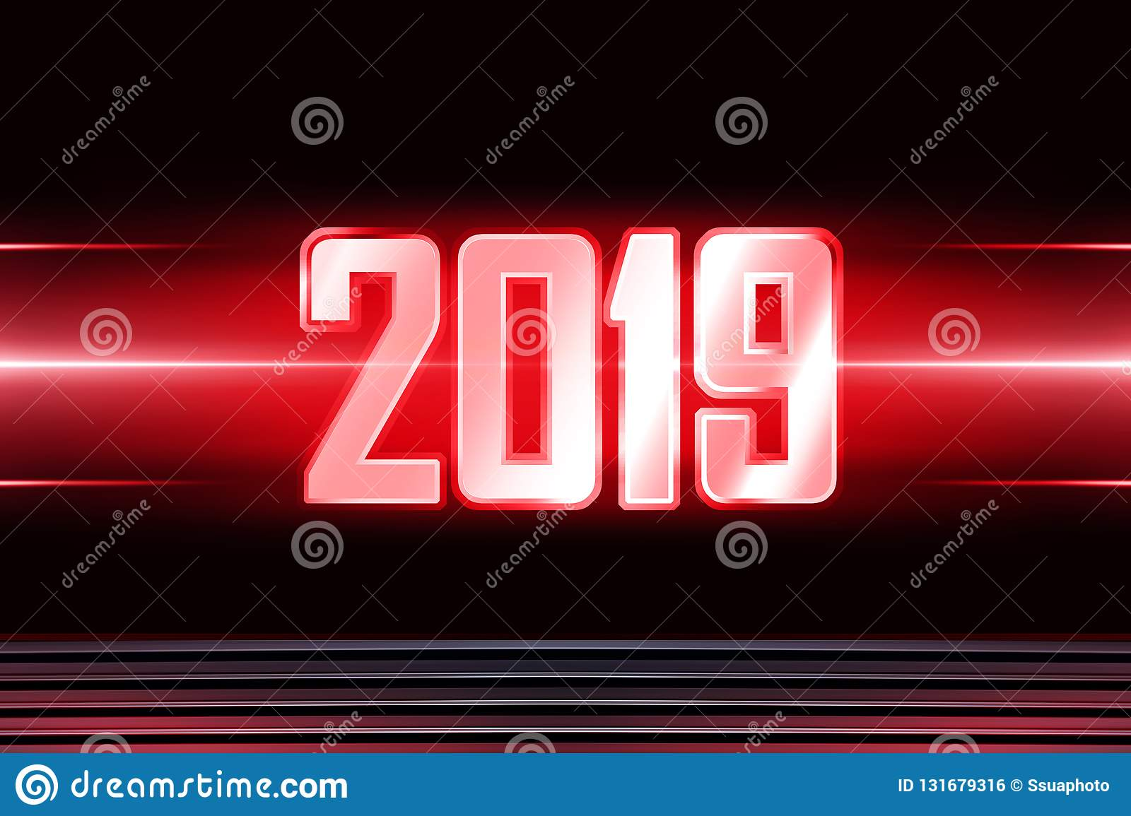 Background With Transparent Figures 2019 For New Year