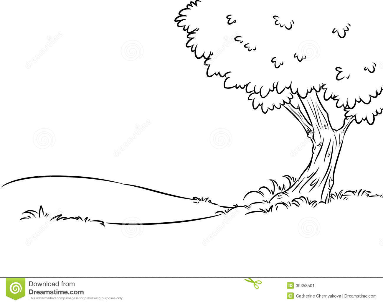 Background tree contour illustration stock illustration for Background coloring pages