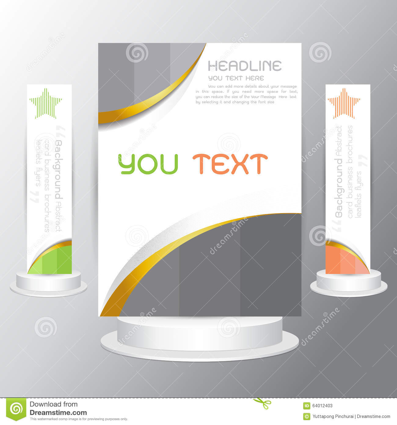background tri fold business brochure cards flyers template stock background tri fold business brochure cards flyers template