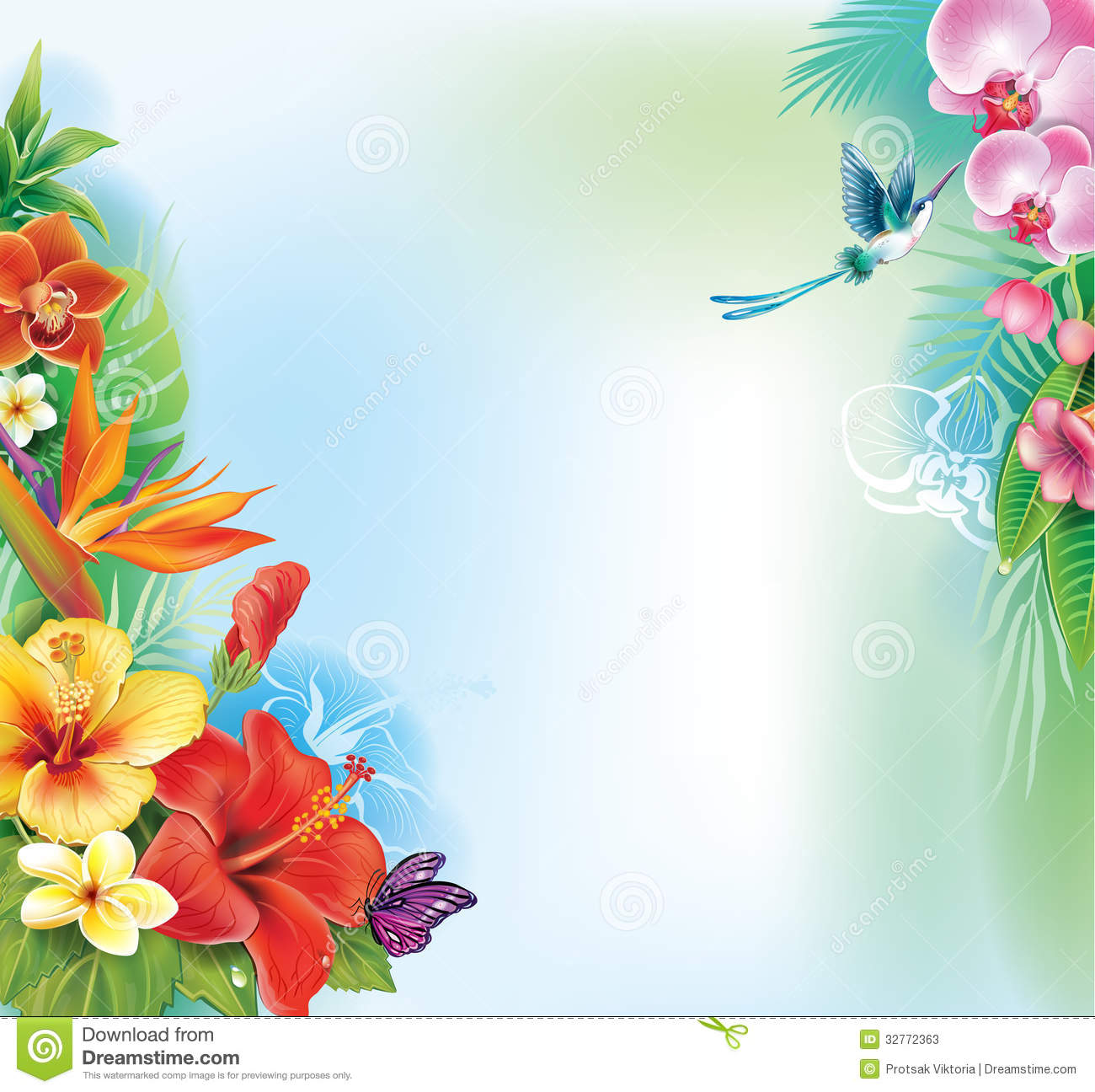 Background From Tropical Flowers Stock Image Image 32772363