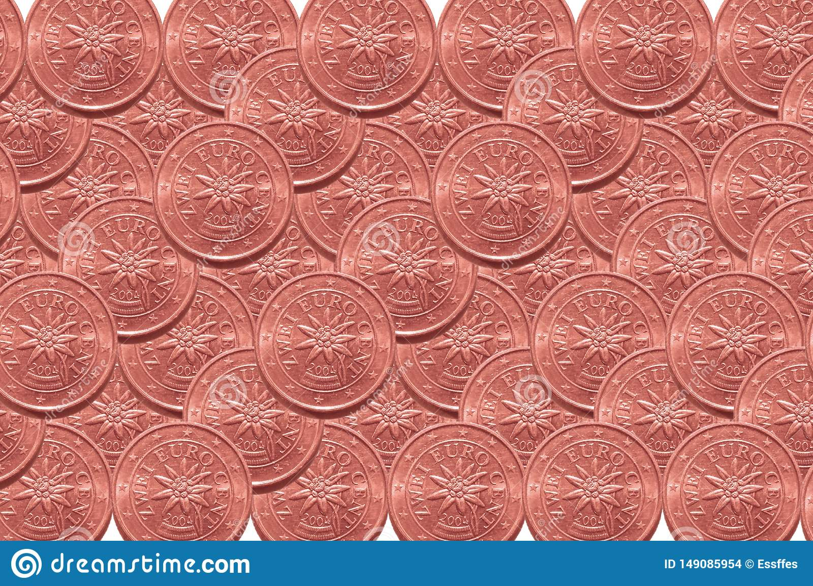 Background from two euro cents coins.