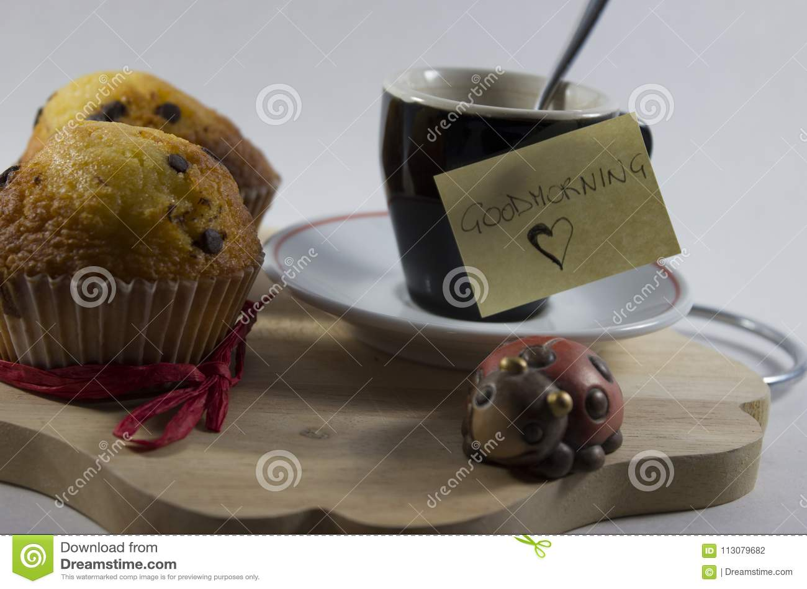 Good morning background, lucky breakfast set