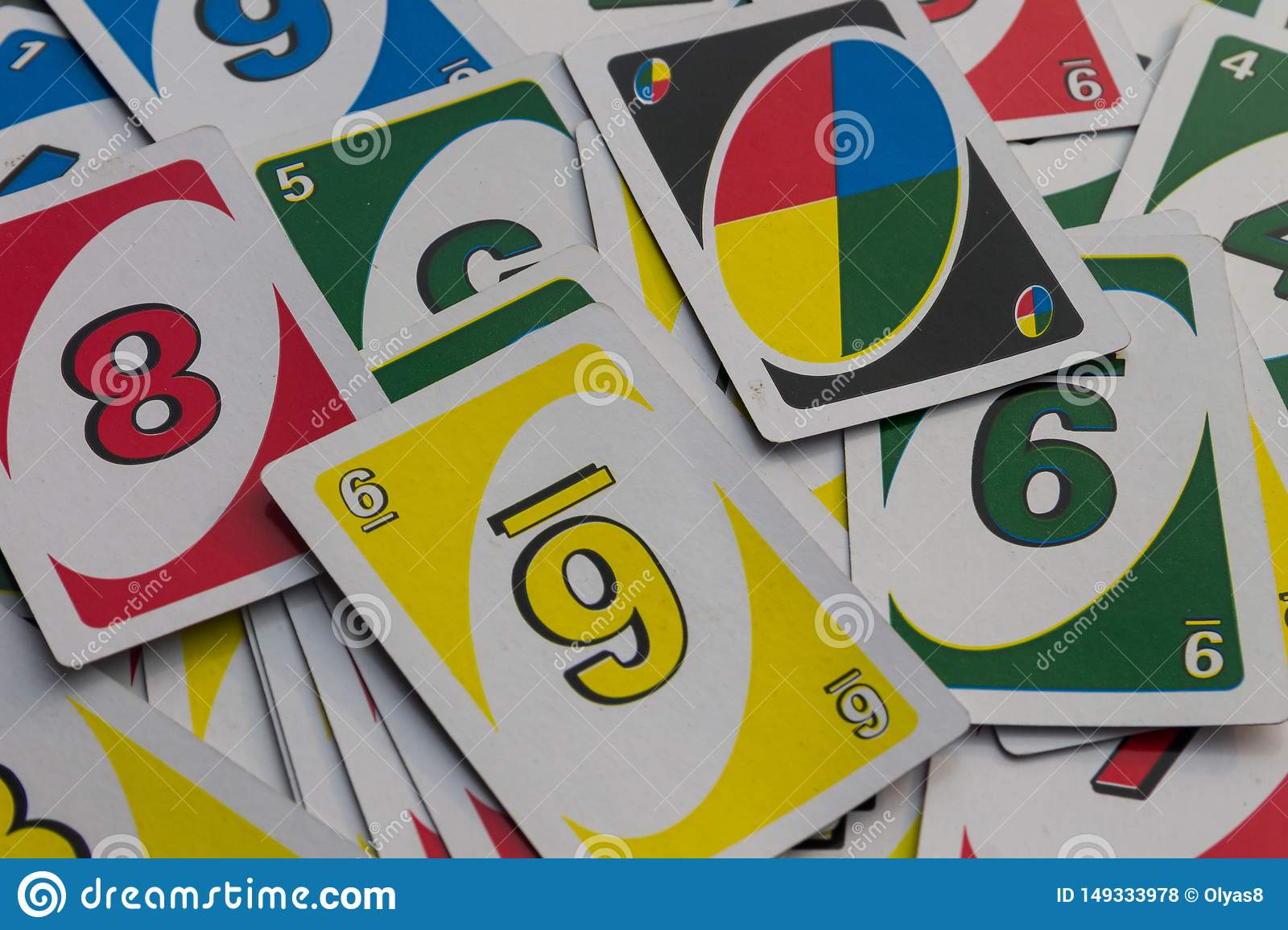 Uno game playing cards
