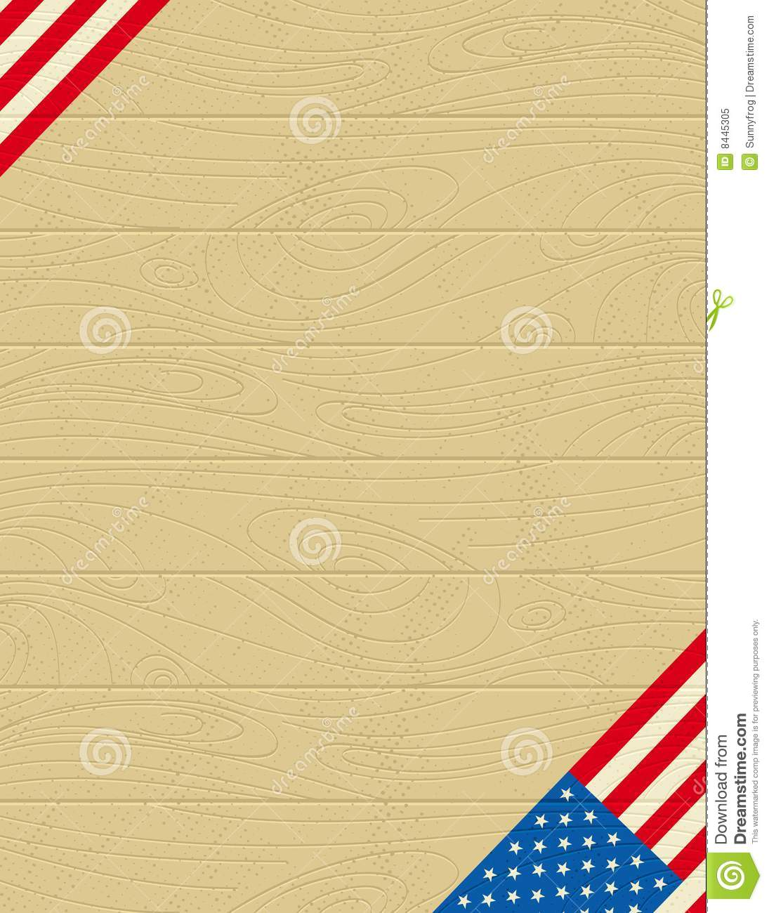 Background with usa banner