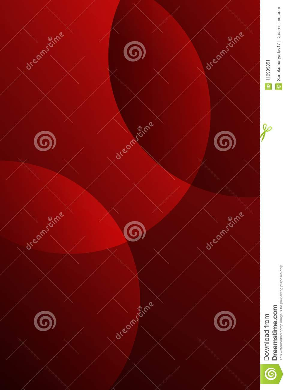 Red Color 3 D Line And Black Color Shading Vector Mobile Background
