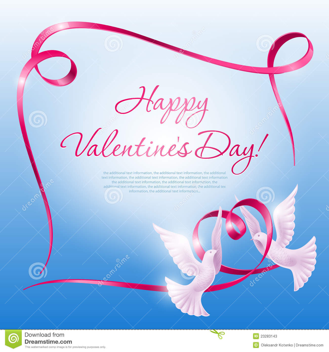 Download Background On Valentine's Day Stock Vector - Illustration of happy, color: 23283143