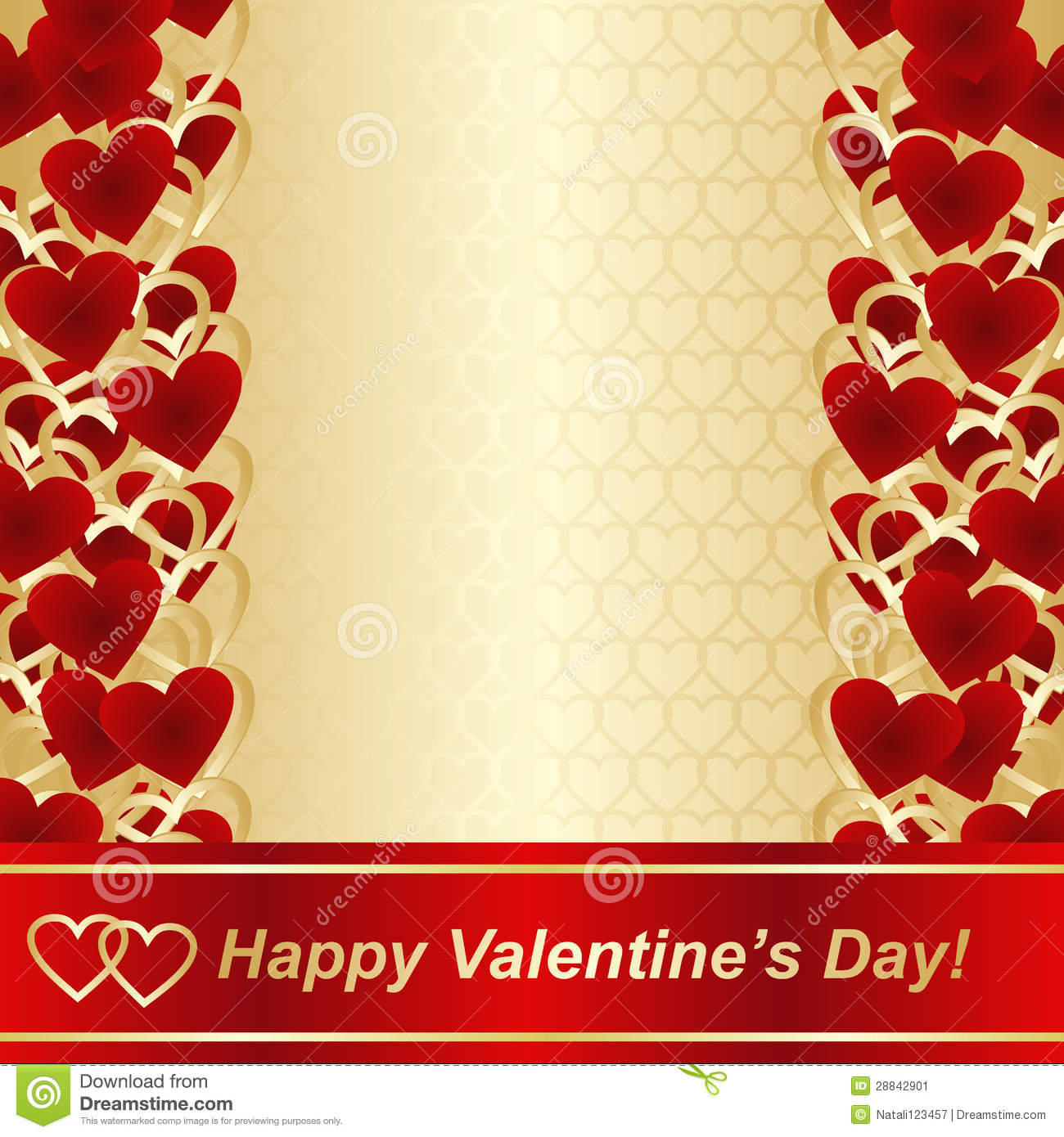Background For Valentines Day Or Wedding Design Stock
