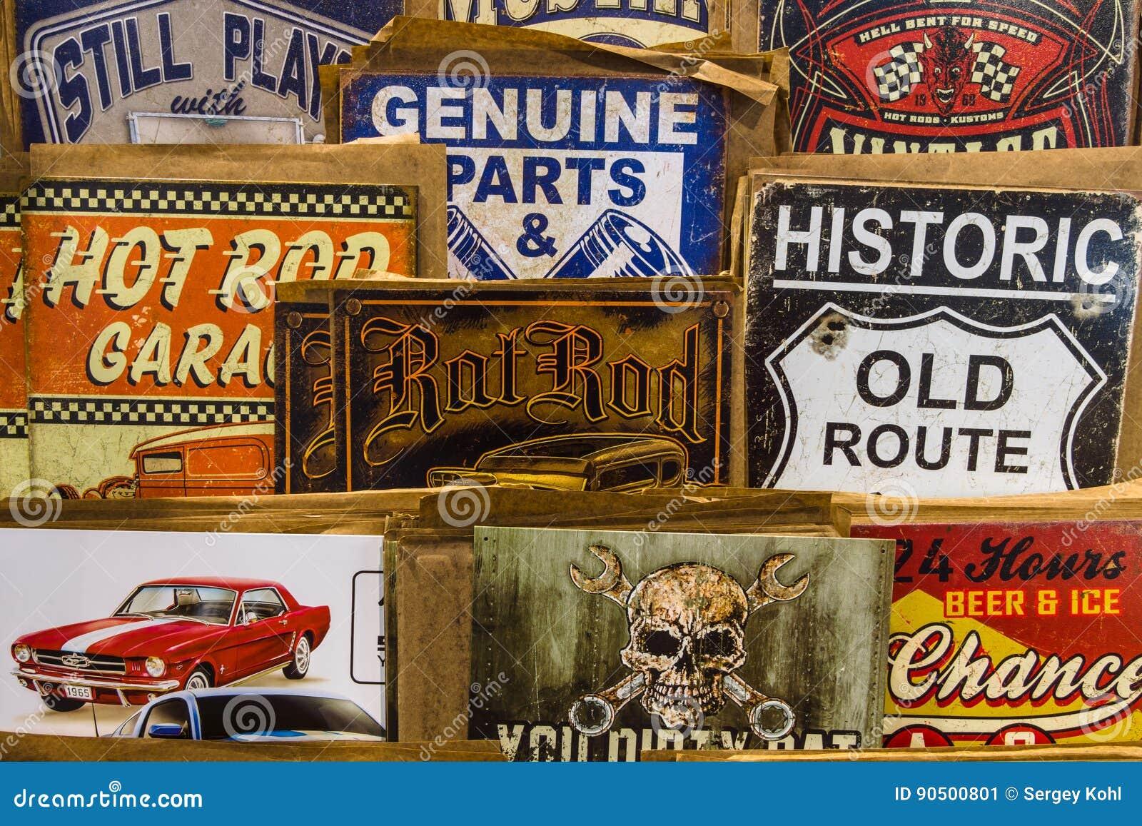 vintage automotive advertising signs