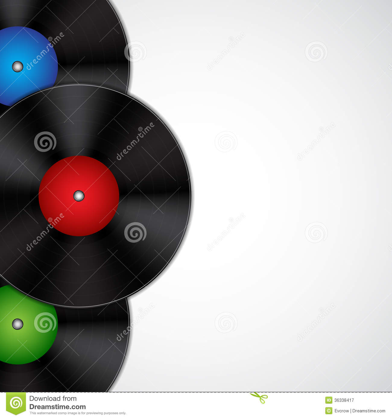 Background With Vinyl Records Royalty Free Stock