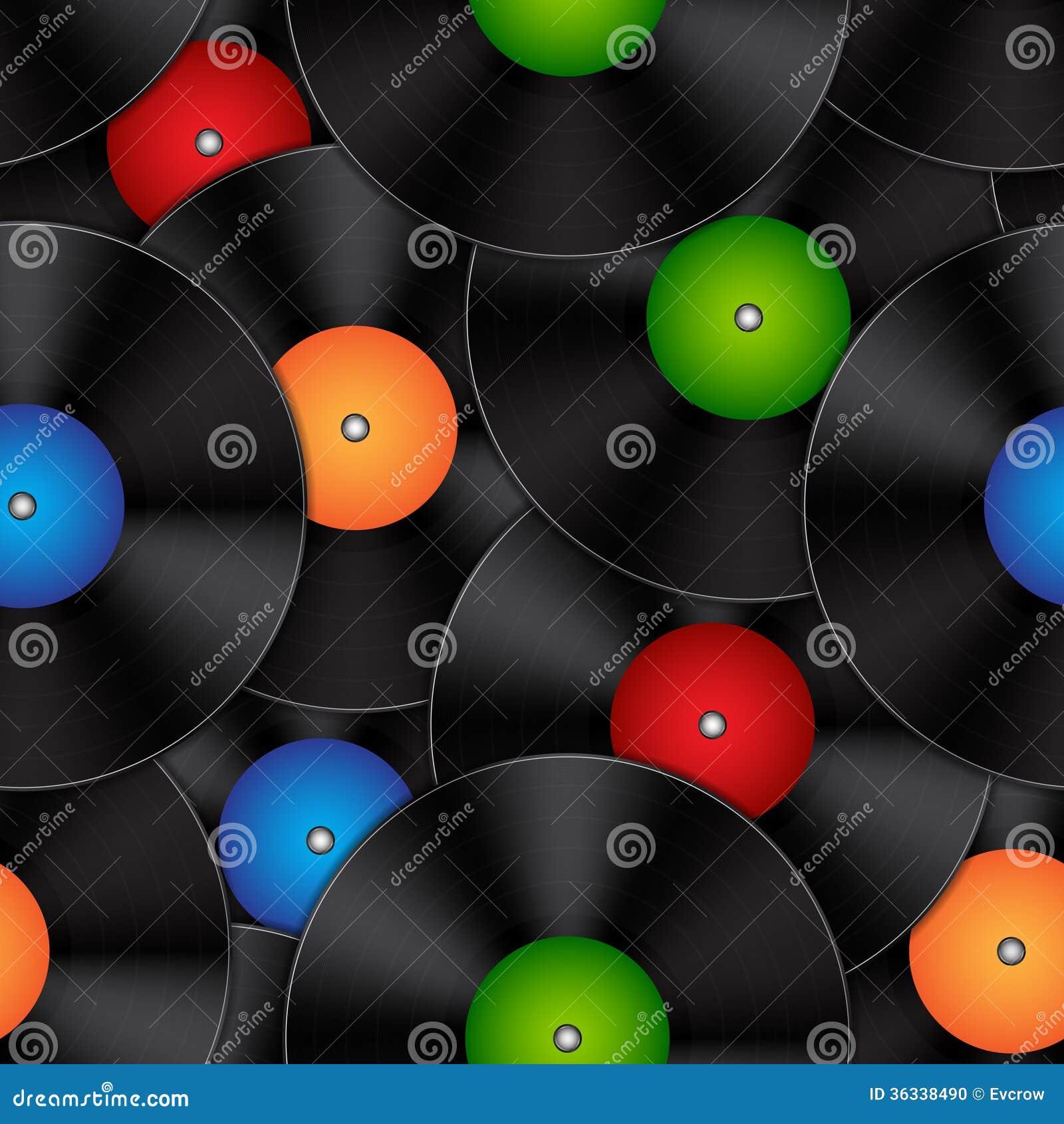 Background With Vinyl Records Stock Photo Image 36338490