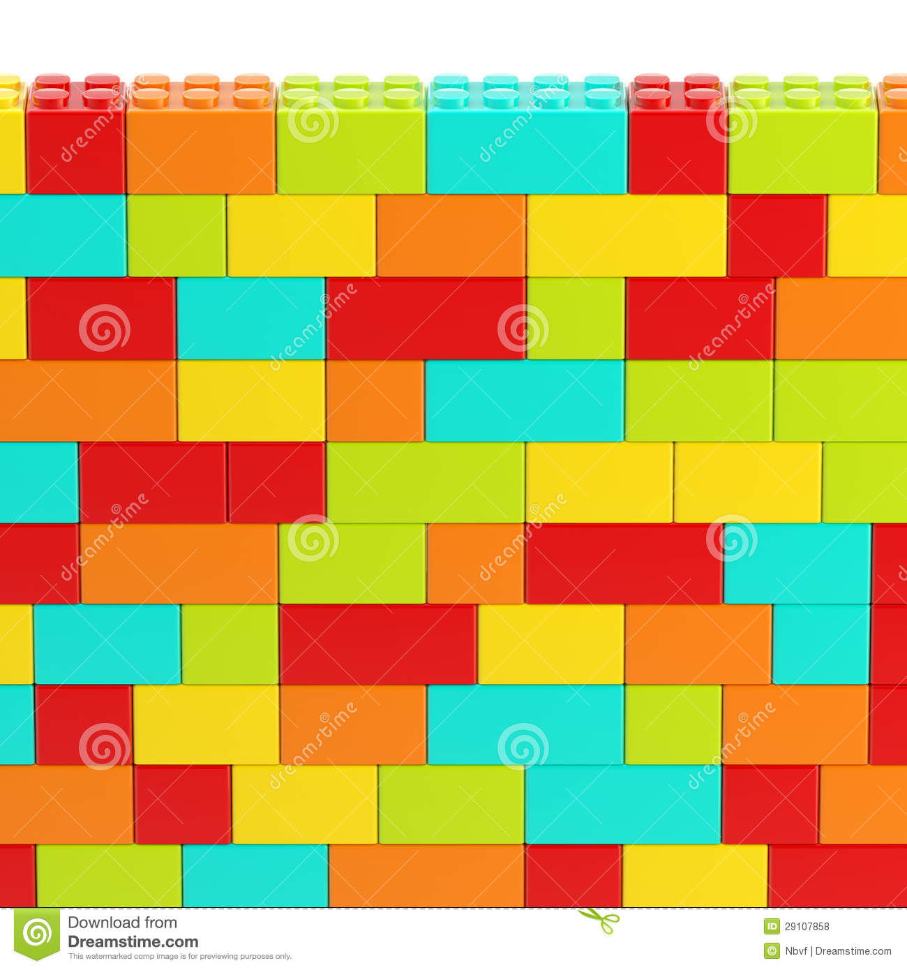 Background Wall Made Of Toy Blocks Royalty Free Stock Photos - Image ...