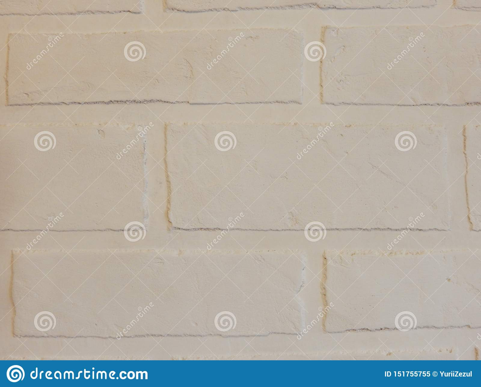The background wall of this white brick plaster