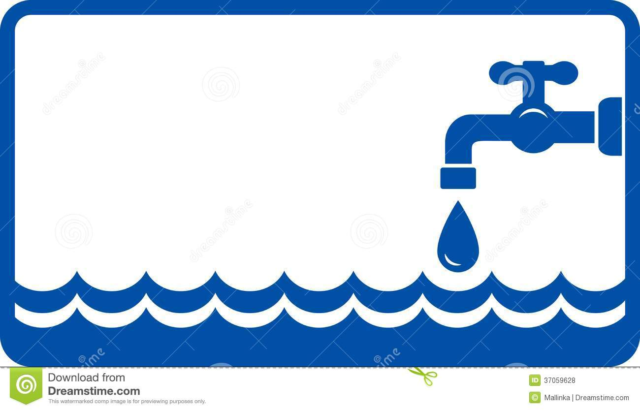 Background With Water Wave And Tap Royalty Free Stock ...  Background With...