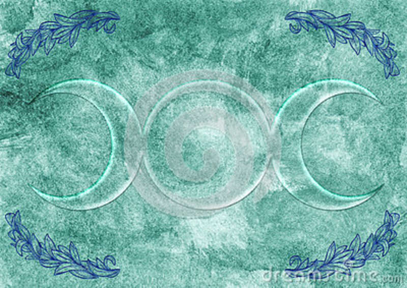 Background With Wiccan Goddess Symbol Stock Illustration