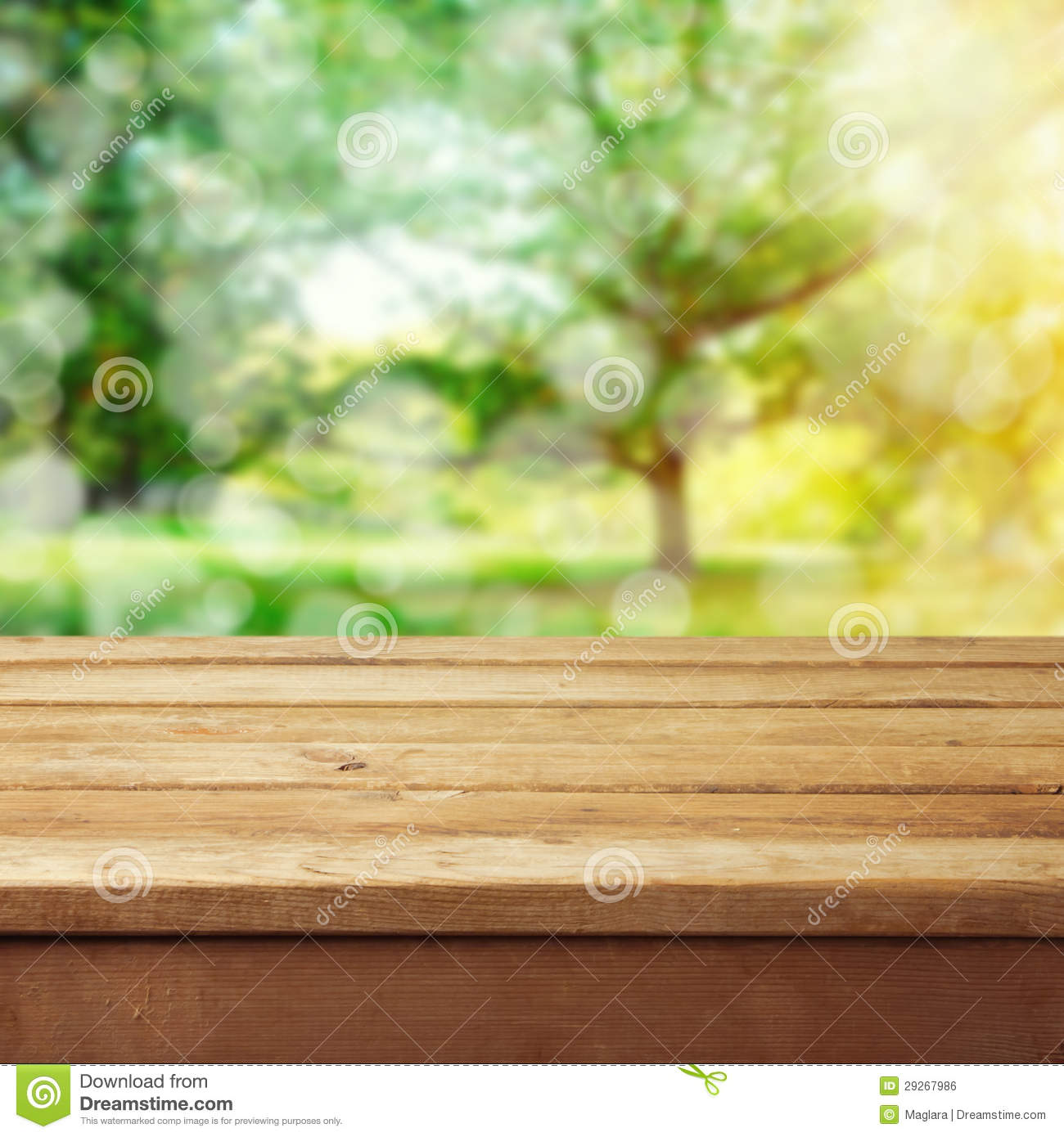 Background With Wooden Deck Table Royalty Free Stock Image ...