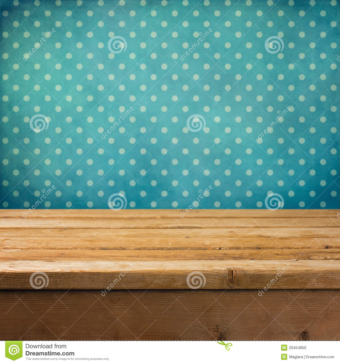Background with wooden deck table stock photo image