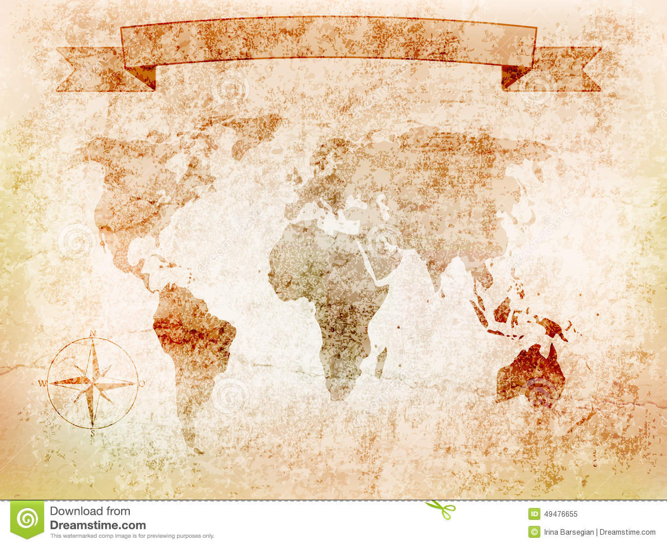 Background world map on old wall with crack windrose banner royalty free vector download background world map on old wall with crack windrose banner illustration stock gumiabroncs Gallery