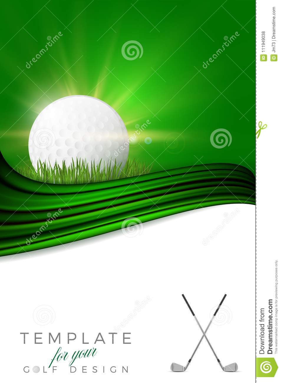 Background for your golf design with golf ball