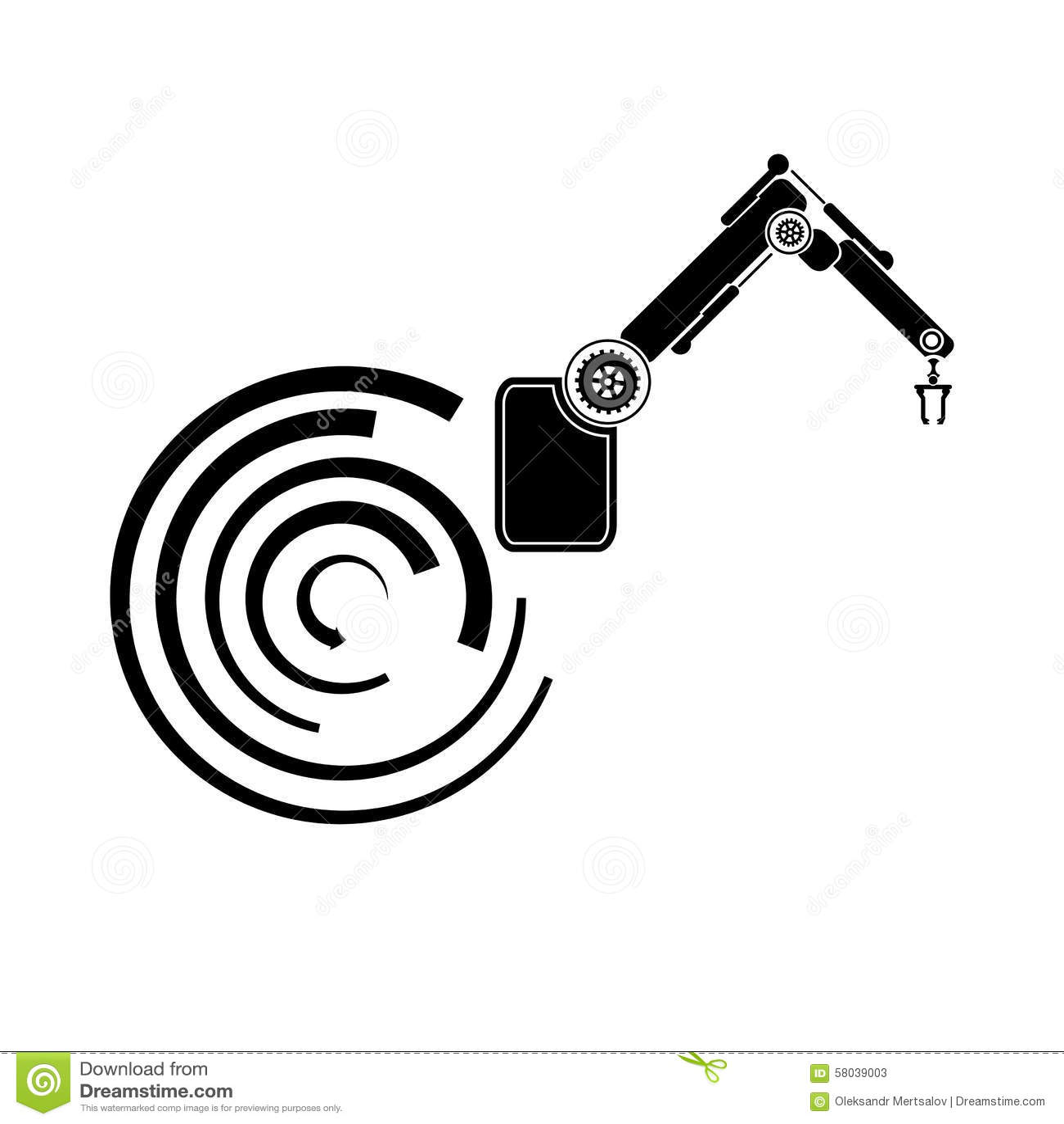 Backgrounds Abstract Vector Robotics Robot Hand Robot Icon Stock