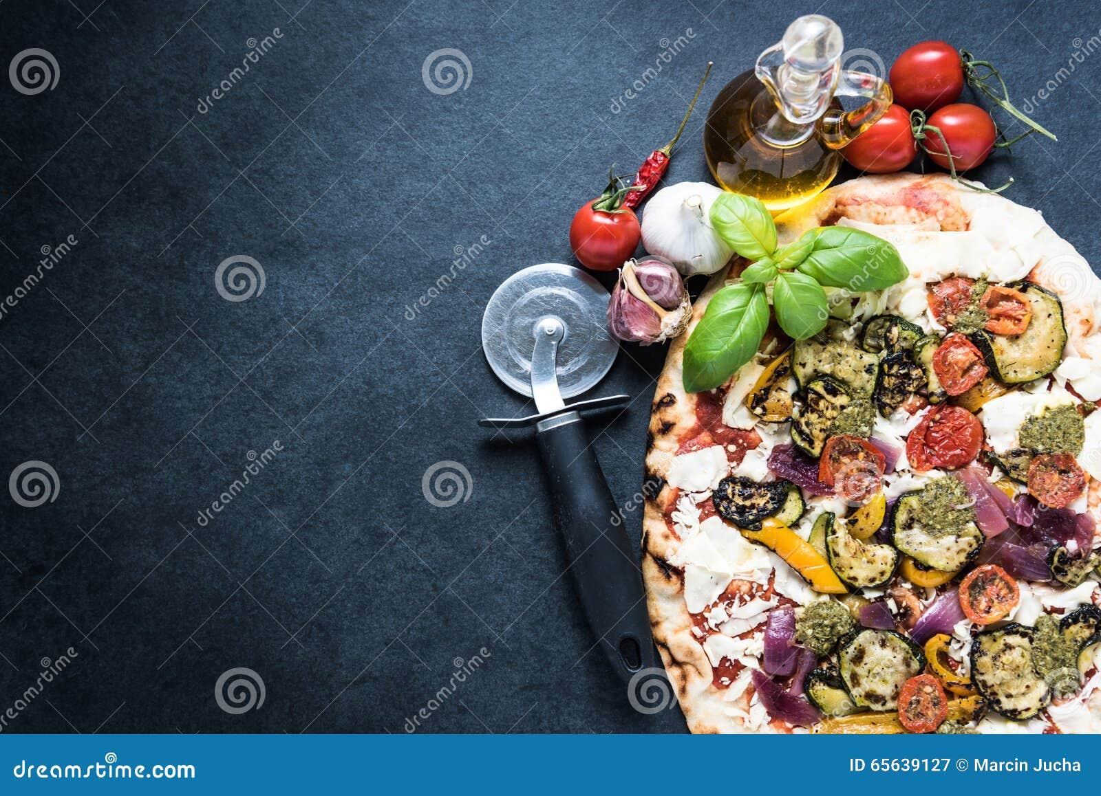 Backgrpund traditionnel de recette de pizza