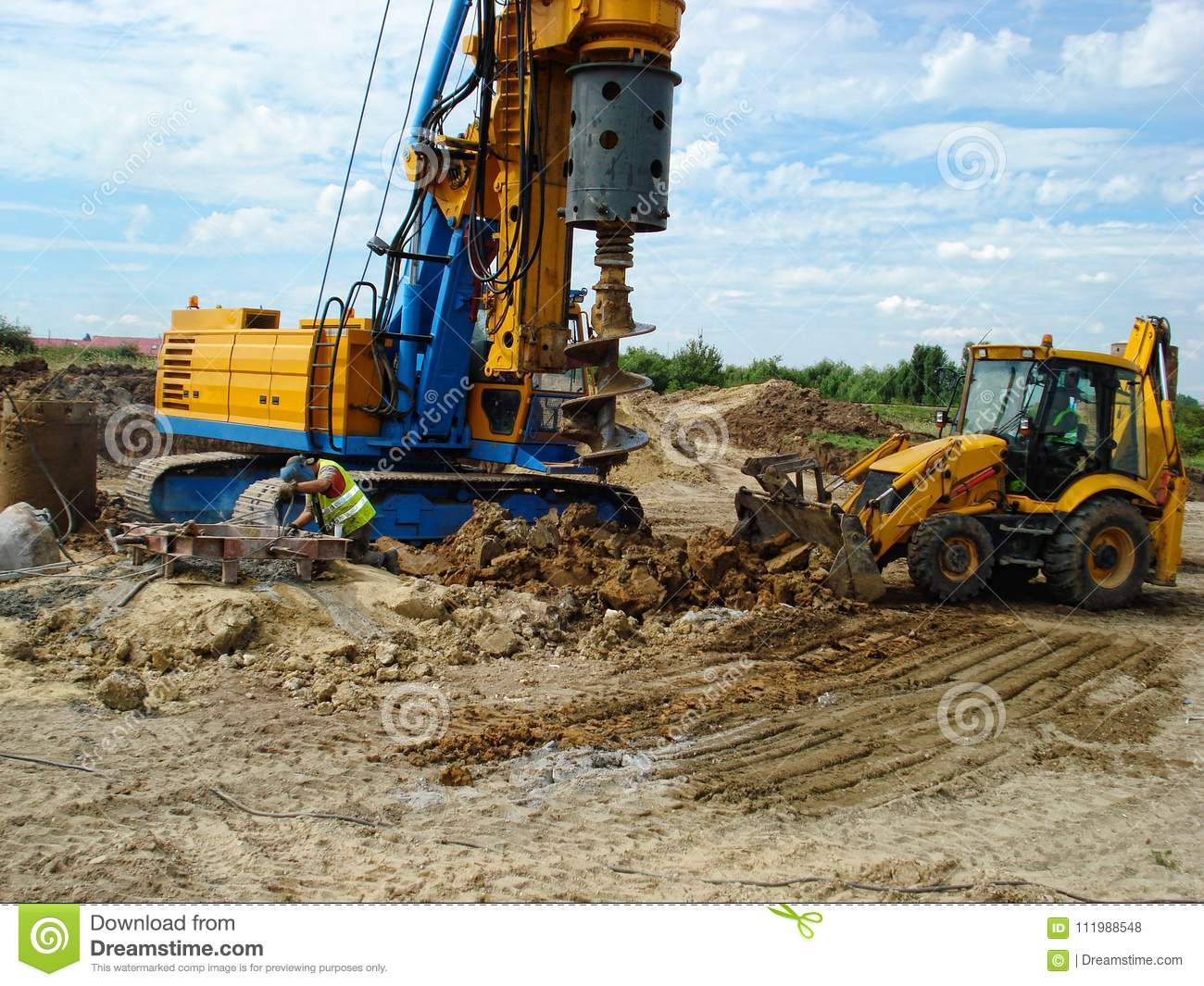 Backhoe en boringsmachines