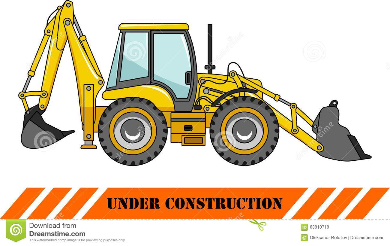 backhoe loader heavy construction machines stock vector backhoe clipart image backhoe clipart black and white