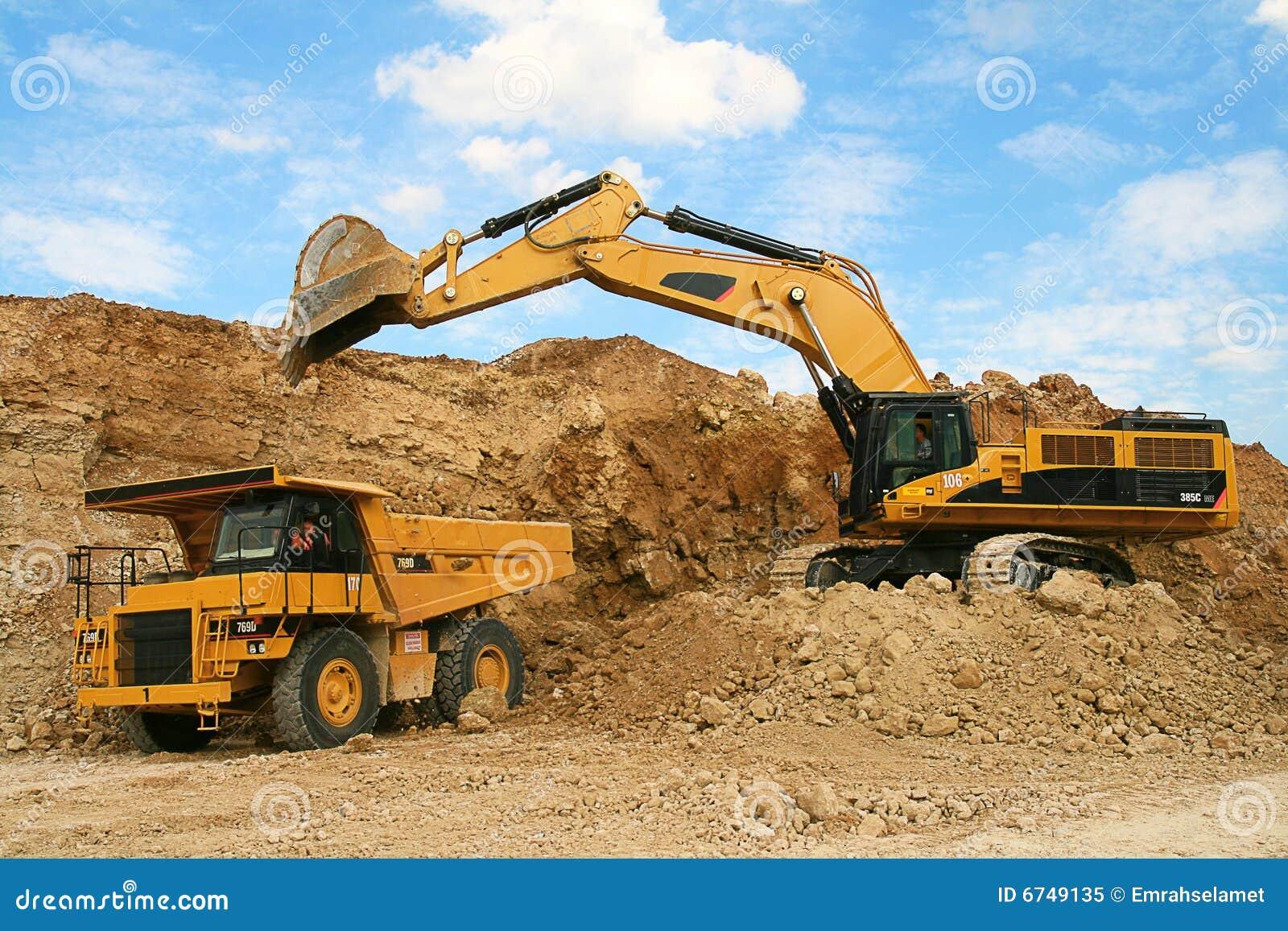 Backhoe Loader Loading Dumper Stock Image Image 6749135